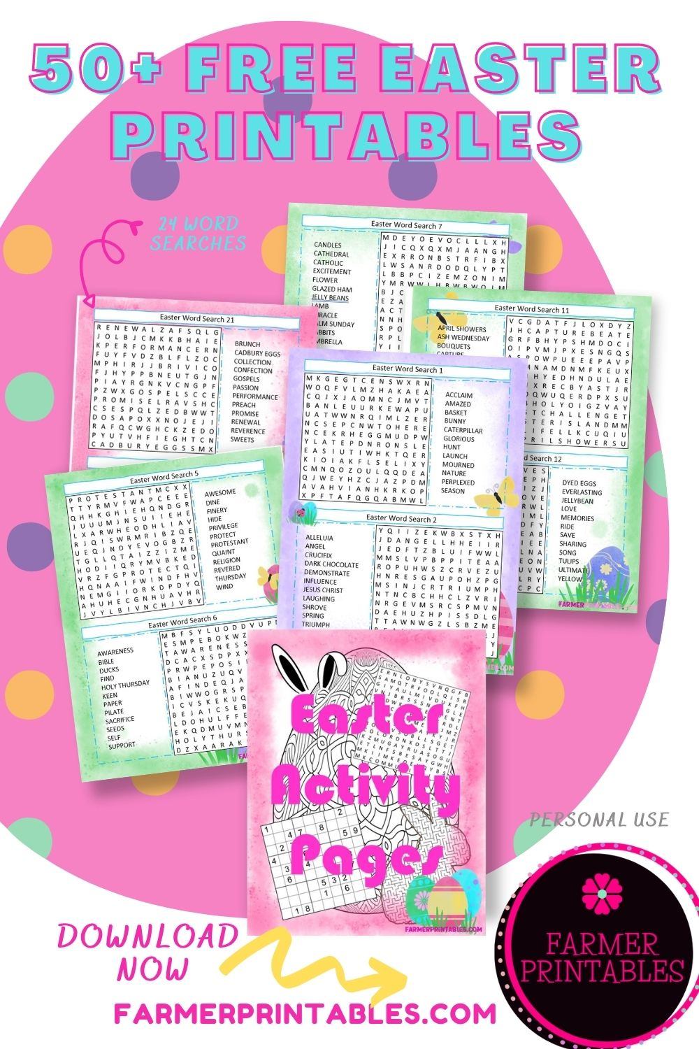 50 Free Easter Printables Sudoku puzzles